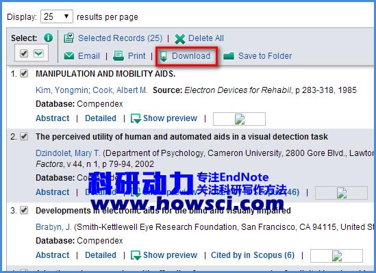 EndNote批量导入EI文献的方法