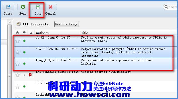 Mendeley在Word添加工具栏和插入和删除文献的方法