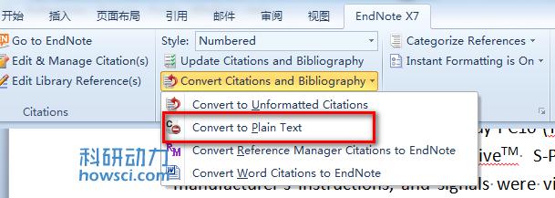 EndNote 正文和综述的参考文献如何分开排序