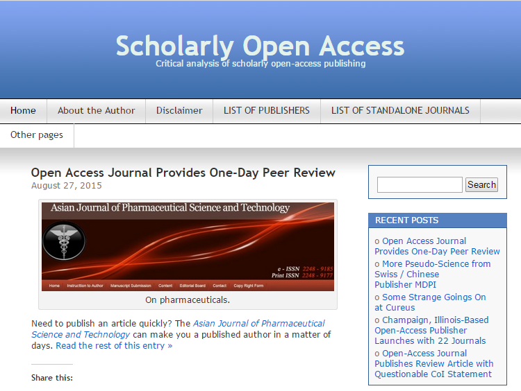 推荐一个网站:Scholarly Open Access