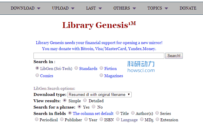 免费外文电子书下载网站 Library Genesis