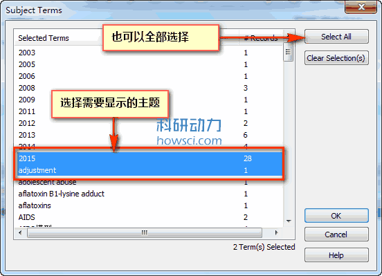 EndNote的主题目录(Subject Bibliograpy)