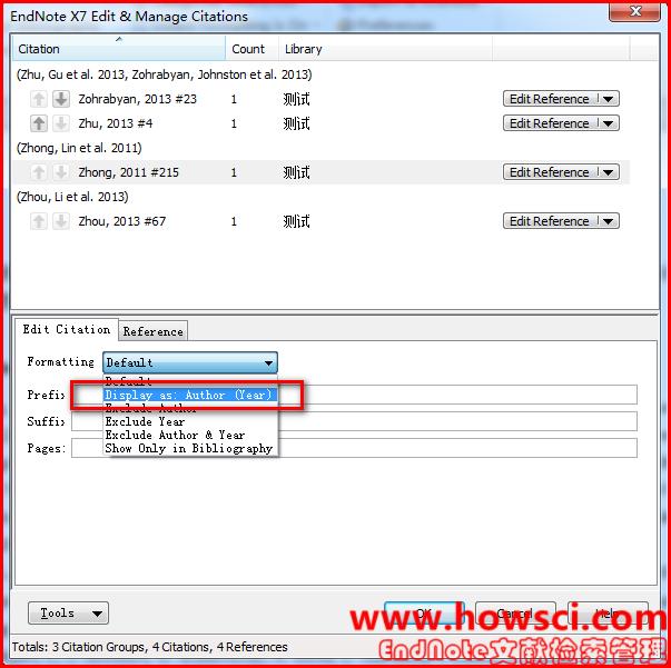 EndNote 新建引文和参考文献格式方法
