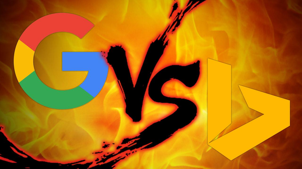 搜索引擎对比:Google VS Bing