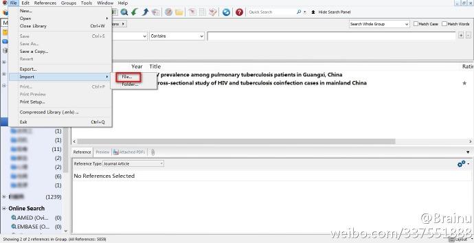 EndNote导入CNKI文献的方法