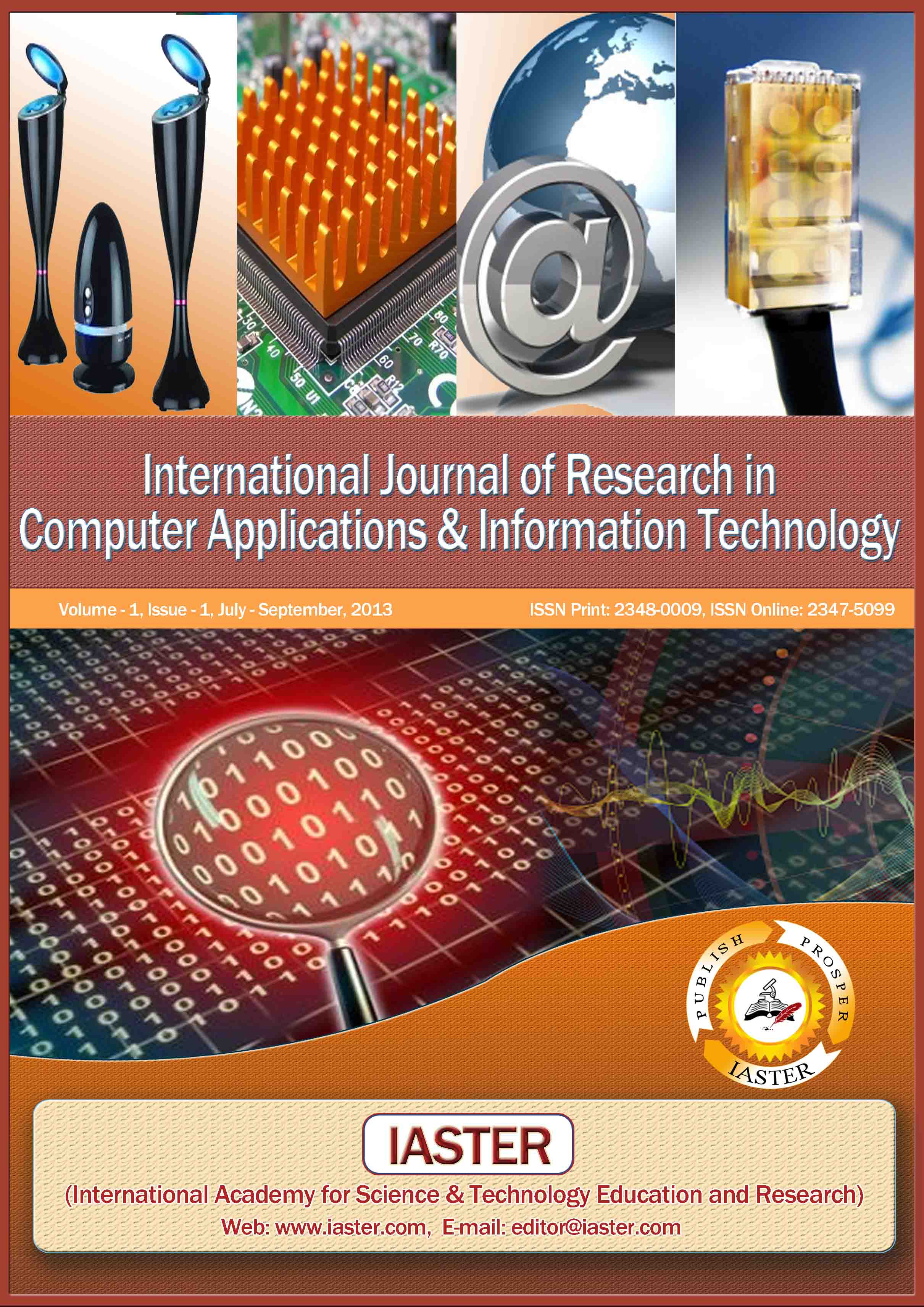 International Journal of Research in Computer Applications & Information Technology (IJRCAIT)杂志怎么样
